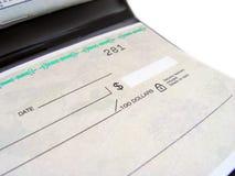 Het Boek van de cheque stock fotografie