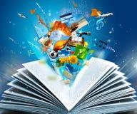 Het boek van de fantasie Stock Foto's