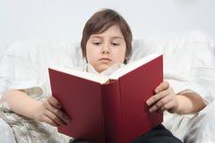 Het boek van de jonge mensenlezing Stock Fotografie