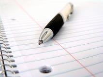 Het boek van de nota en pen Stock Foto