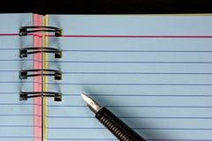 Het boek van de pen en van de nota Stock Afbeelding