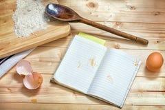 Het boek van de receptenkok. Stock Afbeeldingen