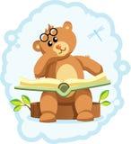 Het boek van de teddybeer stock illustratie