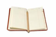 Het boek van de telefoon en van het adres. stock foto's