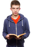 Het boek van de tienerlezing Stock Fotografie