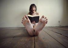 Het boek van de verschrikking Stock Foto's