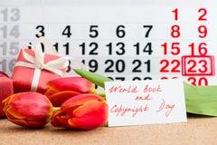 Het boek van de wereld en auteursrechtdag Royalty-vrije Stock Foto's
