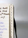 Het boek van het adres Royalty-vrije Stock Foto's