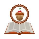 Het boek van het Cupcakerecept Stock Afbeelding