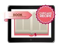 Het boek van het Cupcakerecept Stock Foto's