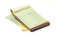 Het Boek van het ontvangstbewijs Royalty-vrije Stock Foto