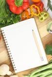 Het boek van het recept Stock Afbeelding
