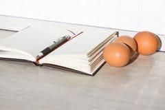 Het boek van het recept Stock Foto's