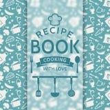 Het boek van het recept Vector kaart Stock Foto