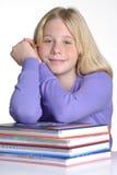 Het boek van het schoolmeisje. Royalty-vrije Stock Afbeelding