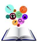 Het boek van het wetenschapsconcept stock illustratie