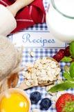 Het boek van recepten Stock Foto's