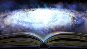 Het boek vertelt over de Melkweg 26 stock videobeelden