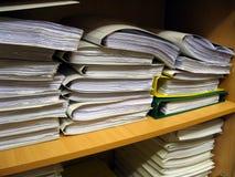 Het boekenrek van het bureau Stock Foto