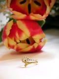 Het boeket en de ring van het huwelijk Royalty-vrije Stock Afbeelding