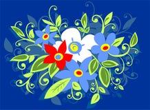 Het boeket van bloemen royalty-vrije illustratie