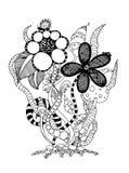 Het boeket van bloemen Vector beeld Stock Afbeelding