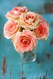 Het Boeket van de Bloem van rozen Royalty-vrije Stock Foto