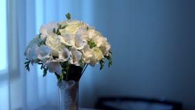 Het boeket van de bruid stock footage