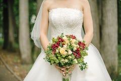 Het boeket van de bruid Stock Afbeeldingen