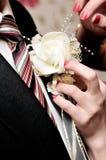 Het boeket van de bruidegom Stock Fotografie