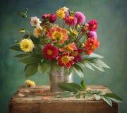 Het boeket van de dahlia Royalty-vrije Stock Afbeeldingen
