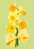 Het boeket van de gele narcis Stock Illustratie