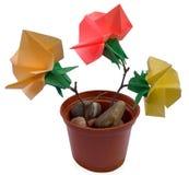 Het boeket van de origami stock fotografie