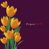 Het boeket van de origamitulp Royalty-vrije Stock Afbeeldingen