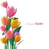 Het boeket van de origamitulp Stock Afbeeldingen