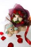 Het boeket van de valentijnskaart Royalty-vrije Stock Afbeelding