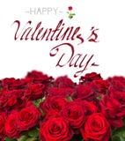 Het boeket van donkerrode rozen sluit omhoog Royalty-vrije Stock Afbeelding
