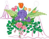 Het boeket van het bloemenhuwelijk Royalty-vrije Stock Afbeeldingen