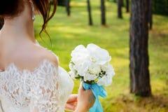 Het boeket van het huwelijk, bloemen Stock Foto