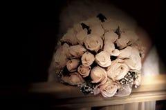 Het boeket van het huwelijk in sepia Stock Fotografie
