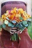 Het boeket van het huwelijk van bloemen royalty-vrije stock foto