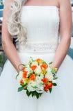 Het boeket van het huwelijk van bloemen Stock Foto