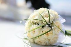 Het boeket van het huwelijk van de bruid Stock Afbeelding