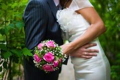 Het boeket van het huwelijk van de bruid royalty-vrije stock afbeelding