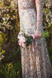 Het boeket van het huwelijk van roze pioenen Royalty-vrije Stock Foto