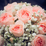 Het boeket van het huwelijk van roze rozen Royalty-vrije Stock Fotografie