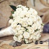 Het Boeket van het huwelijk van Rozen Royalty-vrije Stock Foto's