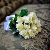 Het boeket van het huwelijk van witte rozen Royalty-vrije Stock Afbeelding