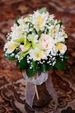 Het boeket van het huwelijksbloemen van rozen Stock Afbeelding
