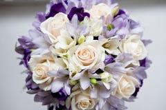 Het boeket van het huwelijk van bloemen royalty-vrije stock foto's